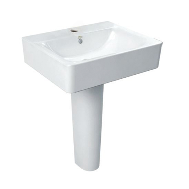 Concept Cube 550mm Full Pedestal Basin