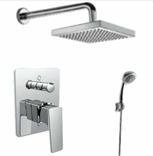Concept Square In-Wall Mixer Bath & Shower