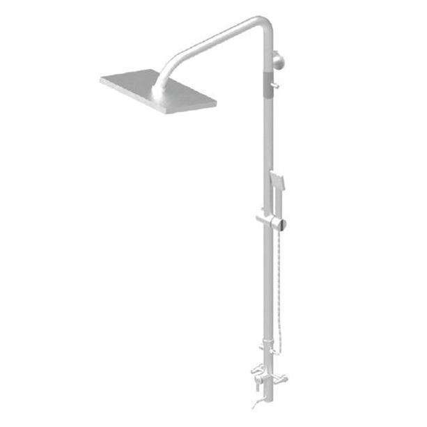 Kai Square Direct Mount Mixer Shower System