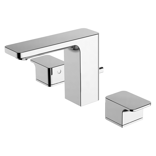 Acacia Evolution 3-Hole Basin Mixer with Pop-up Drain