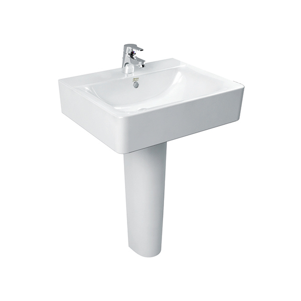 Concept Cube Wall Hung Basin 55Cm/Full ped WT