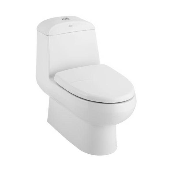 Active 6L One Piece toilet Top push com.set WT