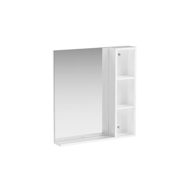 กระจกเงาพร้อมตู้ด้านข้าง ขนาด 700 มม. รุ่นมอดดิโน่ (สีขาวด้าน)