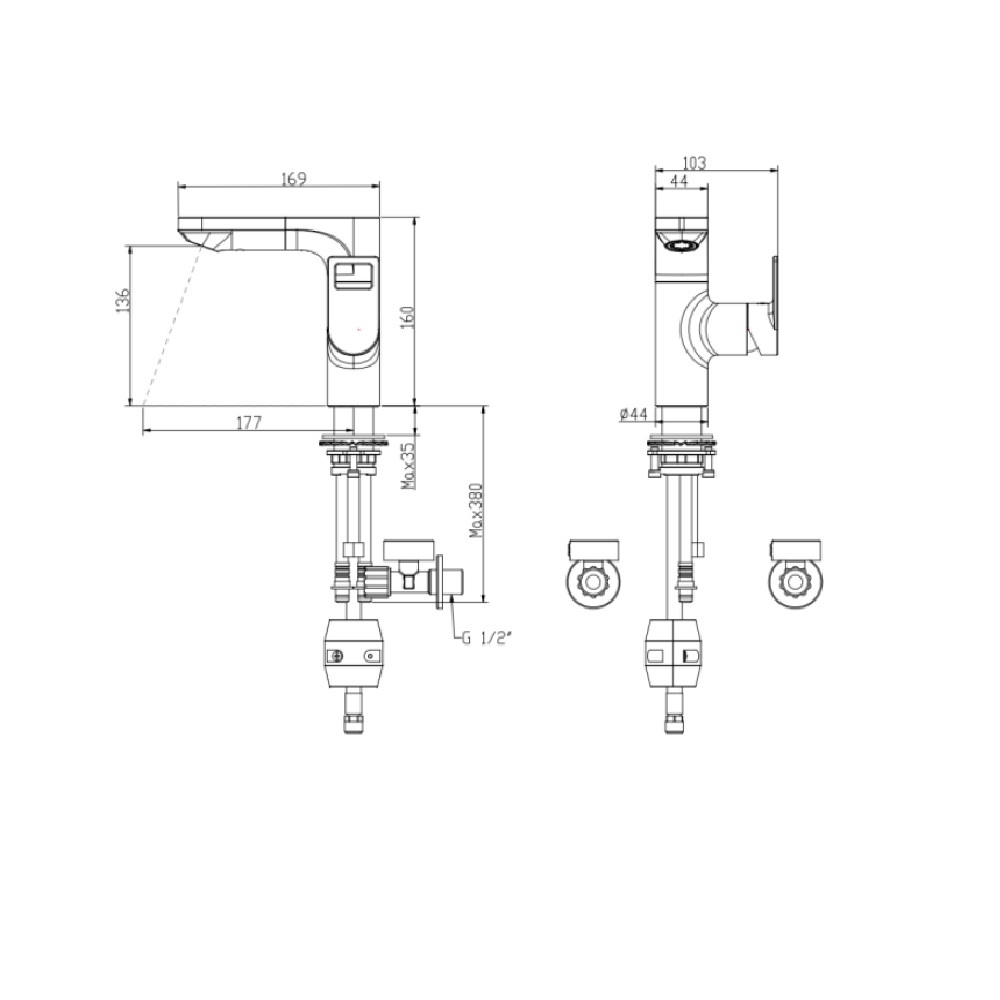 CITY DECK MOUNTED PULL-OUT BASIN MIXER