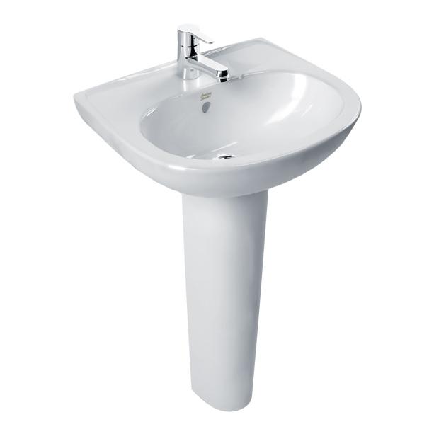 New Codie Full Pedestal 430mm Round Wash Basin