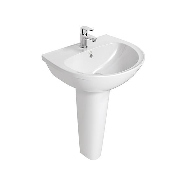 Neo Modern Basin 55cm w/Full Pedestal WT