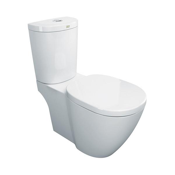 Concept D-Shape 3-4 5L Dual Flush Close Coupled Toilet with Soft Close Seat