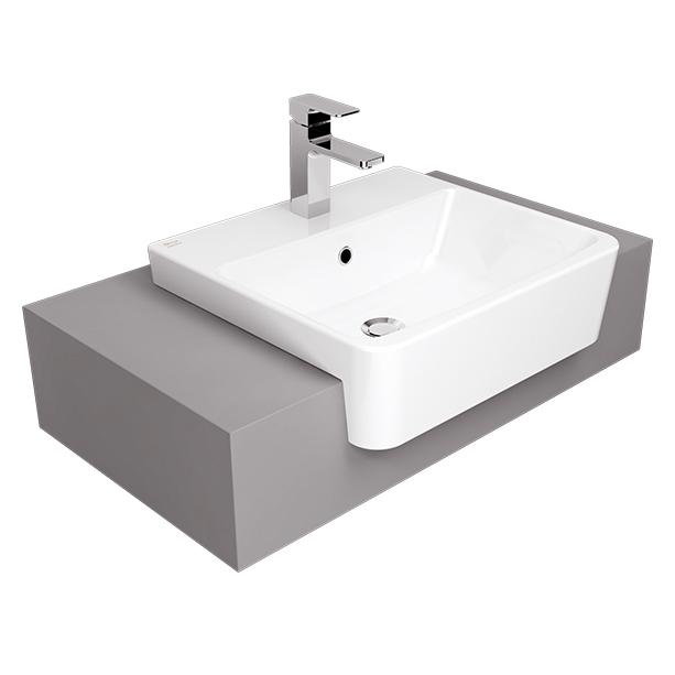 Acacia Evolution 50cm Semi-Counter Wash Basin