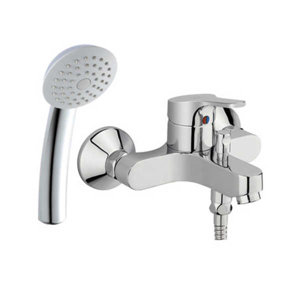Concept Round Exposed Bath Shower Mixer with Shower Kit image