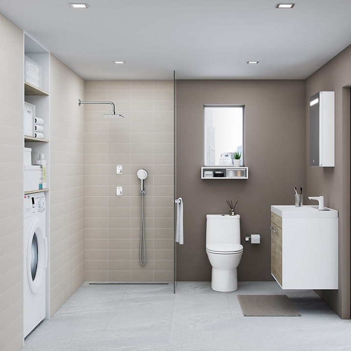 Easy Push innovation bathroom