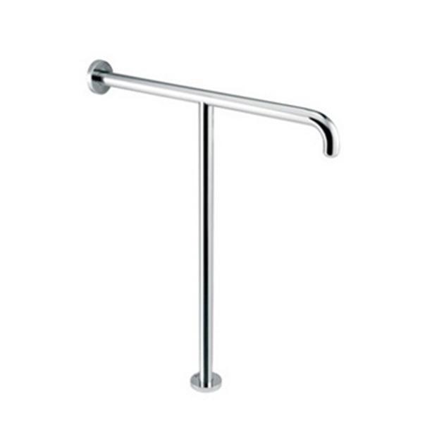 T-shape Handrail D32 700x600mm Hairline