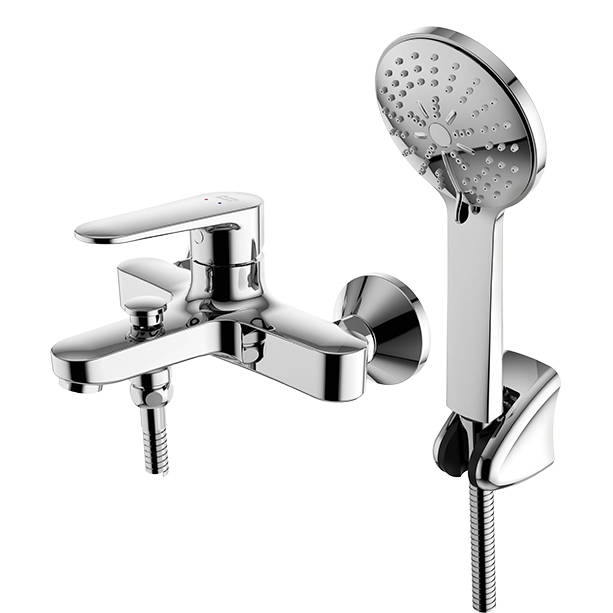 Codie Exposed Bath & Shower Mixer with Shower Kit