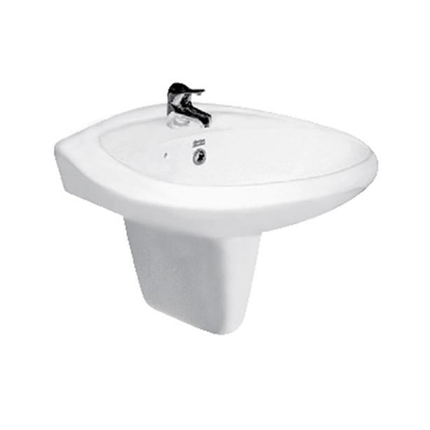 Casablanca Wash Basin (1-Hole) WT Semi Pedestal